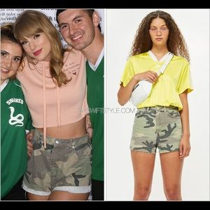 Tooshop Camo Mom Shorts As Seen on Taylor Swift